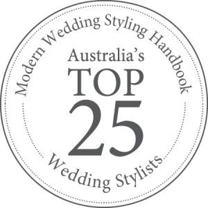 Modern Wedding - Top 25 Stylist Logo