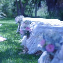 Country Chic Outdoor Ceremony Lace Haybales Pink Lemonade wedding planner melbourne geelong surf coast
