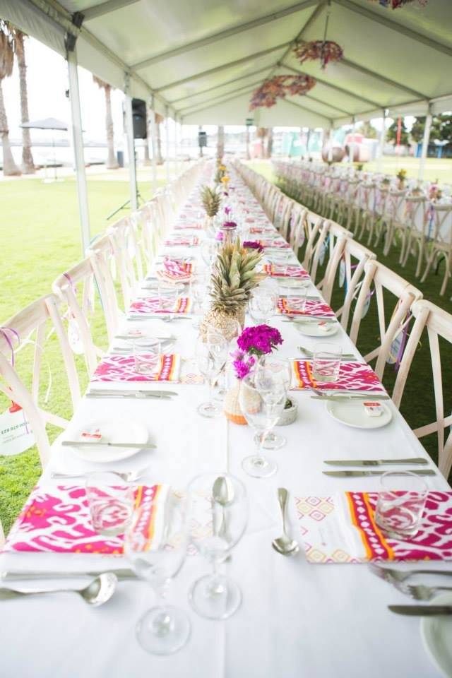 5 colourful boho longest lunch