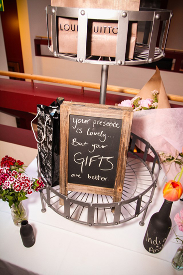 Eclectic 21st Birthday Party Flowers Blackboard Photo Booth