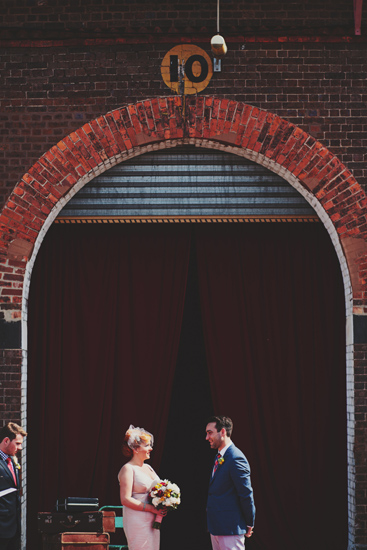 Australian Vintage Carnival Wedding Newport Railway Workshops Ceremony Styling