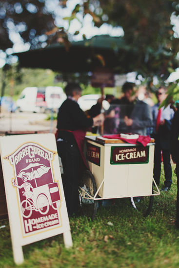 Australian Vintage Carnival Games ice cream cart Newport Railway Wedding Guest Entertainment