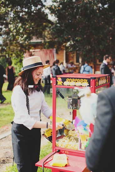 Australian Vintage Carnival Games Pop Corn Machine Newport Railway Wedding Guest Entertainment