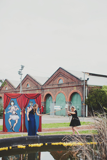 Australian Vintage Carnival Games Newport Railway Wedding Guest Entertainment