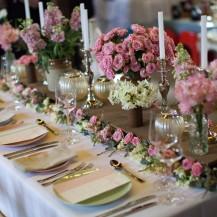 Wooden Table Runner Wedding floral decor pink yellow vintage wedding planner geelong surf coast melbourne bellarine
