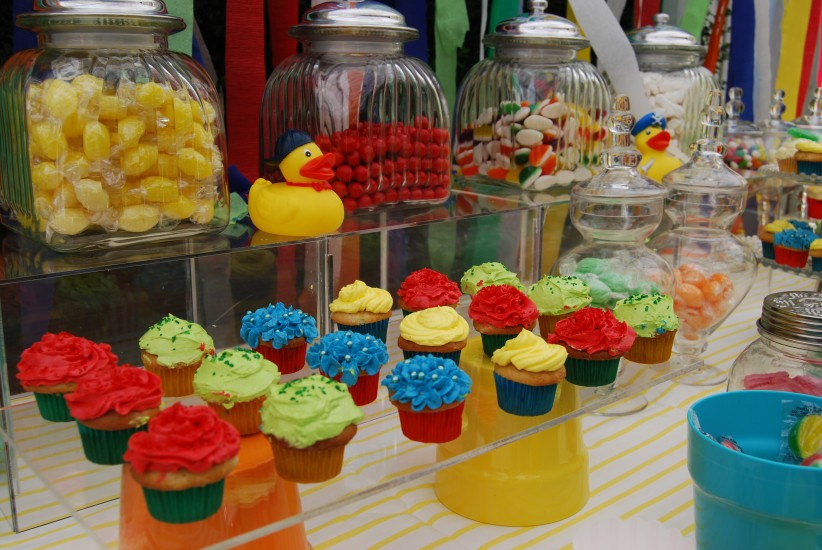 Brightly Coloured Surprise Baby Shower With Dessert Buffet and Drink Station