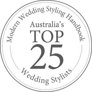 Modern Wedding - Top 25 Stylist Logo