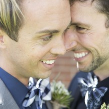 same sex wedding outdoor ceremony masculine native plants wedding wedding planner melbourne geelong surf coast