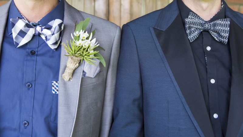 His and His Same Sex Wedding with Native Florals