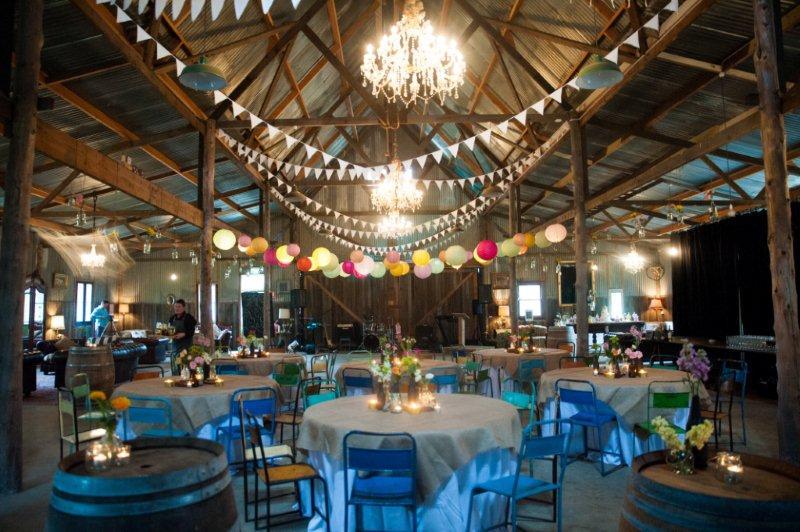 Rustic Barn Wedding Lanterns Festoon Lights Chandeliers (25)