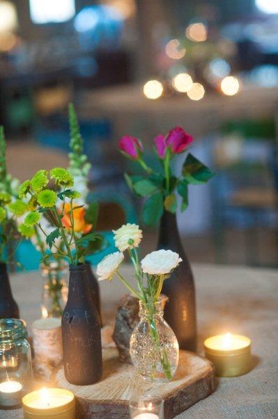 Rustic Barn Wedding Lanterns Festoon Lights Chandeliers (27)