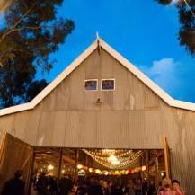 Rustic Barn Wedding Chandeliers Lanterns Bunting Festoon Lights Wedding planner melbourne geelong surf coast