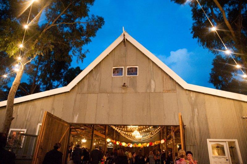 Rustic Barn Wedding Lanterns Festoon Lights Chandeliers (43)