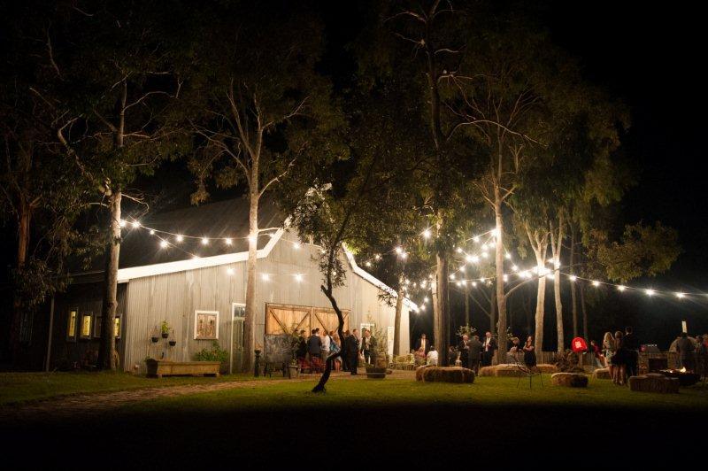 Rustic Barn Wedding Lanterns Festoon Lights Chandeliers (45)