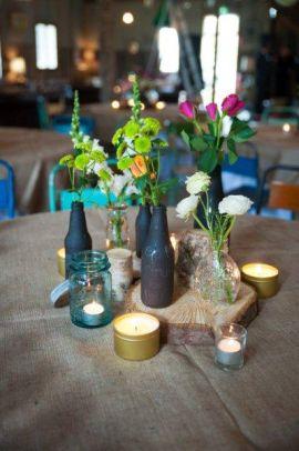 Rustic Barn Wedding Lanterns Festoon Lights Chandeliers (5)