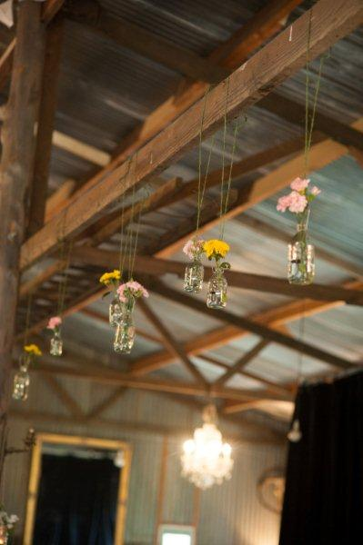 Rustic Barn Wedding Lanterns Festoon Lights Chandeliers (9)