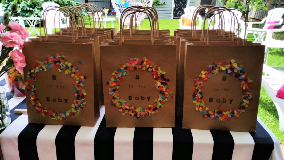 Baby Shower 4 Game Pack Favour Bag